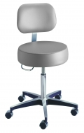 Century Series Stool with Backrest in Dove