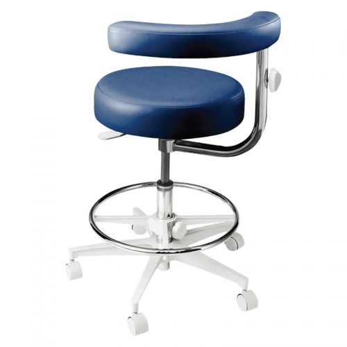 Contemporary Seating 2000 Series Assistant's Stool with Foot Ring and Left Body Support. Model 2042L.