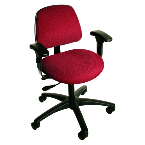 Cloth and Vinyl Seating Task Series with Seat Tilt and Adjustable Armrests. Model CT-1-EAA