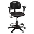Polyurethane Seating Task Series with Adjustable Armrests. Model PT-2-EAA