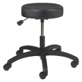 """Vinyl Round Series Stool with 25"""" Base and Dual Wheel Casters Model: VR-1-C"""
