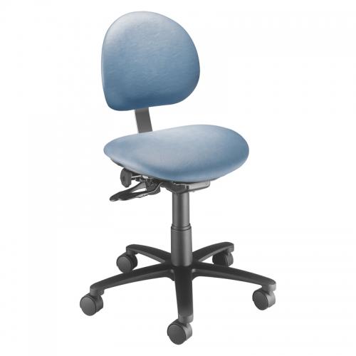 Millennium Series Task Stool with Backrest. Model 21435B