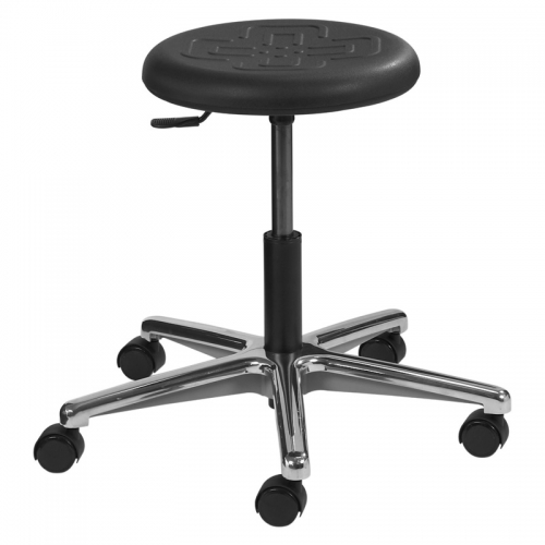 Polyurethane Seating Round Series with Dual Wheel Casters. Model PR-1-C