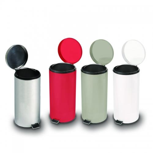 32 qt. Round Steel Waste Cans