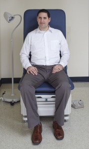 Flex Access Exam Table - Head on with patient